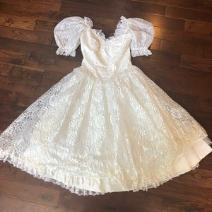 FABULOUS 80s Prom Party Dress Gown Vintage Wedding